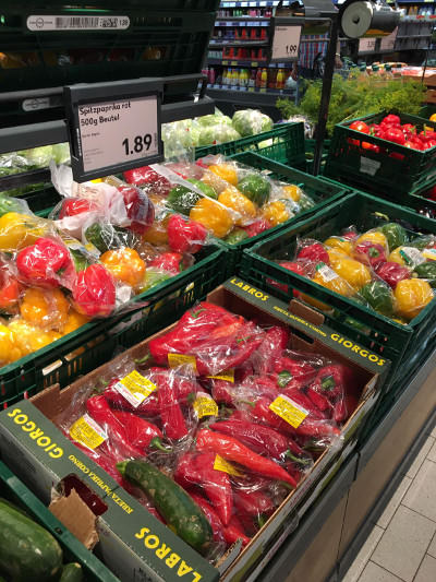 Plastic Packaging - Bell Peppers