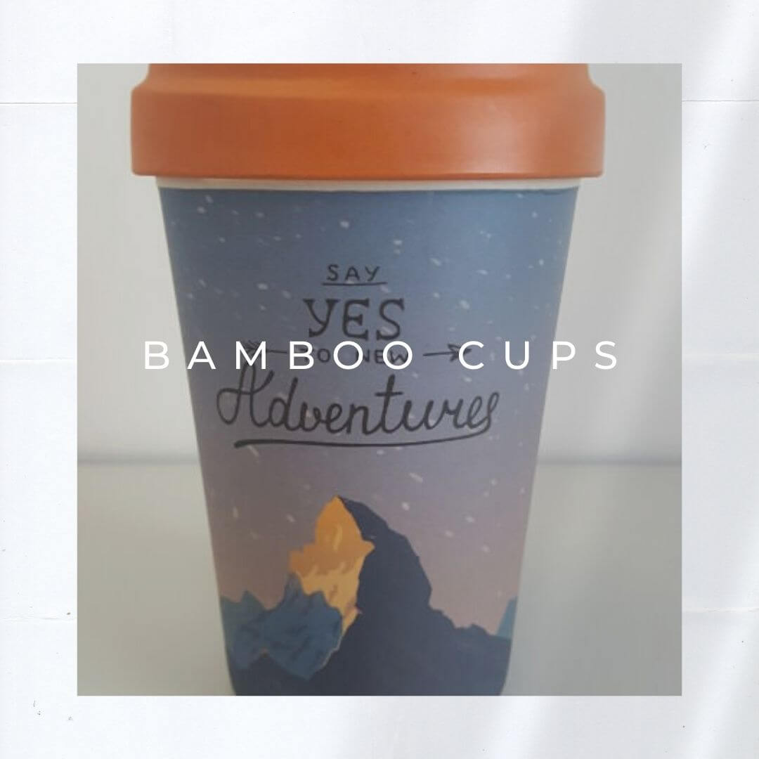 Sustainable product or greenwashing - Bamboo cups. Photo: Seas & Straws