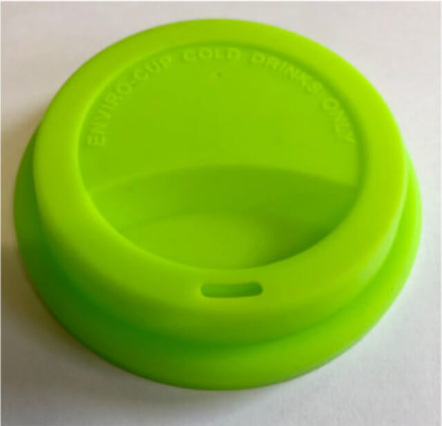 The colourful Enviro-Cup silicone lid. Photo:  ©www.enviro-cup.co.uk