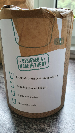 The Enviro-Cup logo with some instructions and features. Photo: ©Seas & Straws