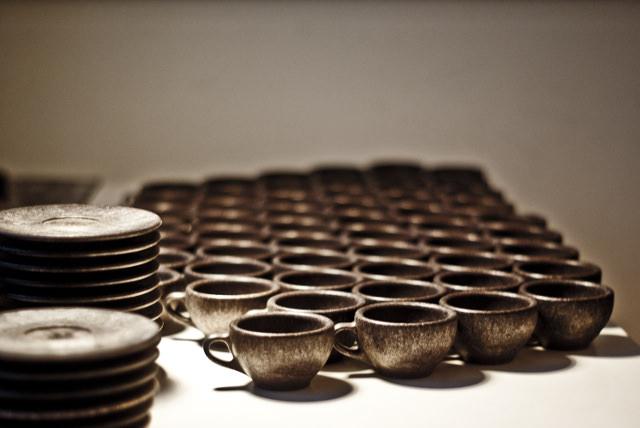 Freshly Produced Espresso Cups. Photo: © Kaffeeform