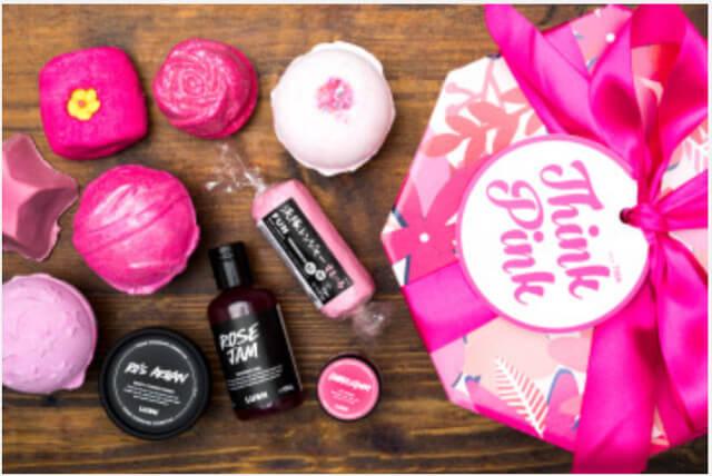 Lush Think Pink gift set. Photo: Lush