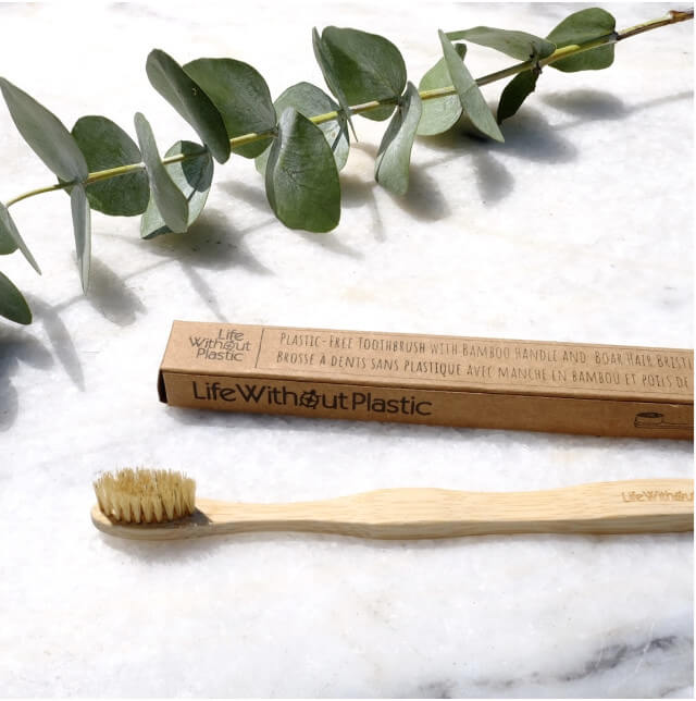 Consider buying a bamboo toothbrush. Photo: ©www.lifewithoutplastic.com