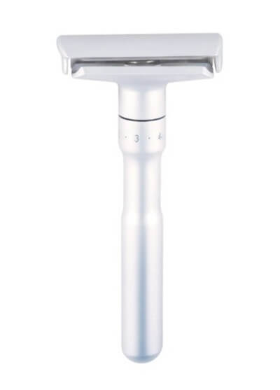 A metal safety razor lasts for years and is waste-free. Photo: ©www.lifewithoutplastic.com