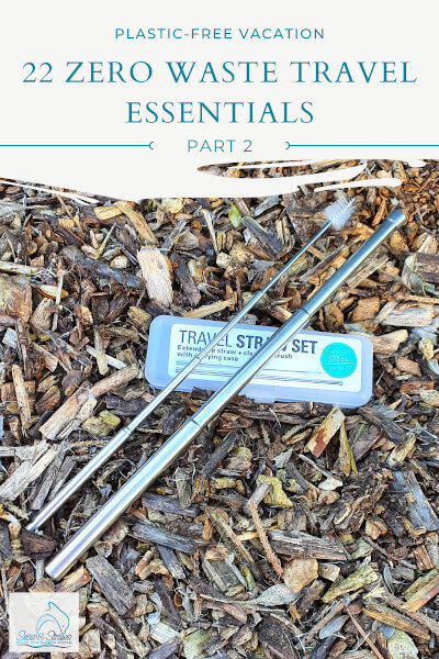 22 Zero Waste Travel Essentials, Part 2. Seas & Straws