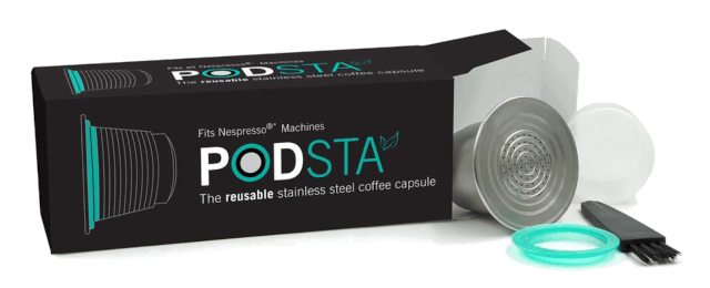 The Podsta coffee pods are sustainable and fit every Nespresso machine. Photo: ©greenbeancoffee.com.au