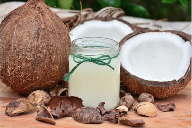 Coconut oil is great for hair, skin and body