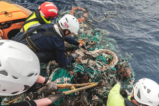 The Great Pacific Garbage Patch - Ghostnet Recovery. Photo: ©The Ocean Cleanup