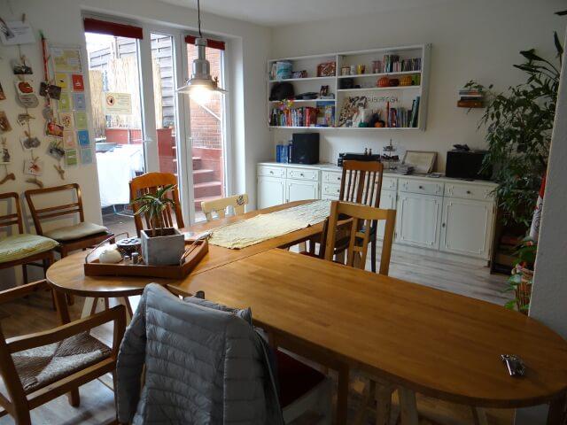 Green Haven Hamburg kitchen table. Photo: Seas & Straws