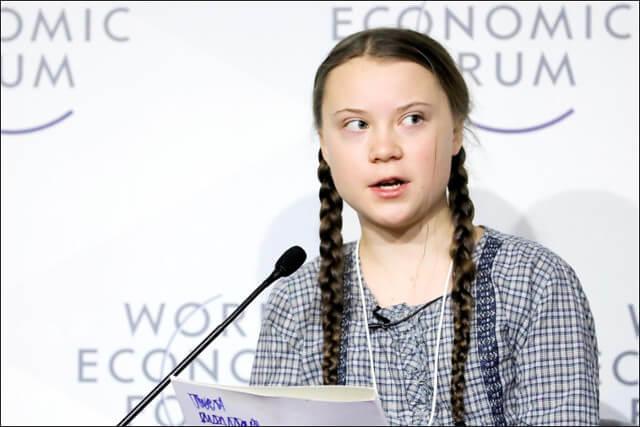 Greta Thunberg at the World Economic Forum in Davos