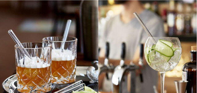 Halm straws look good in every glass. Photo: Halm