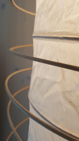 Paper Lamp Detail in the Soulmade Business Suite. Photo: Seas & Straws