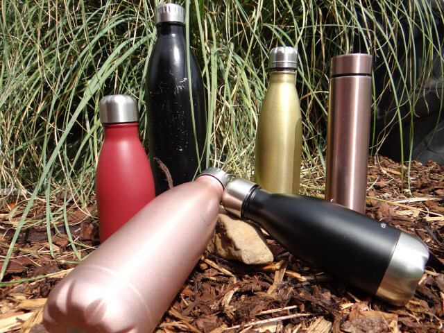 My collection of stainless steel bottles. Photo: ©Seas & Straws