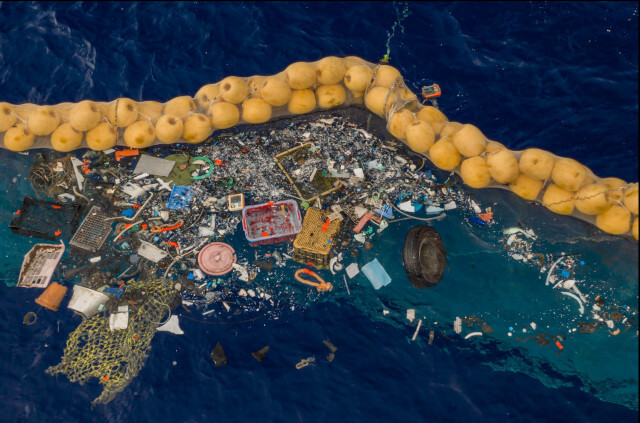 Plastic debris collected in the GPGP by The Ocean Cleanup. Photo: © The Ocean Cleanup