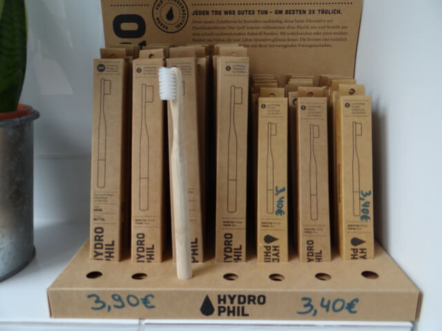 Bamboo Toothbrushes for sale. Photo: Seas & Straws