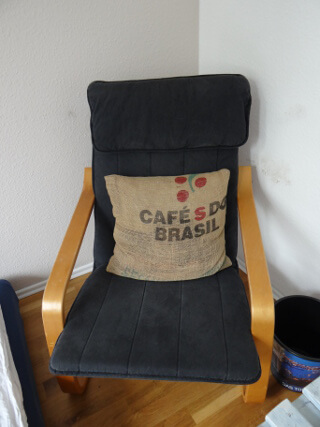 Another up cycled couch pillow. Photo: Seas & Straws
