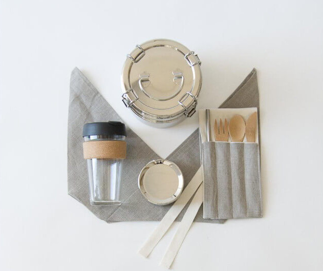 The Wild Minimalist's Zero Waste Lunch Kit. Photo: ©wildminimalist.com