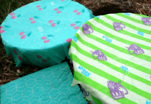 Beeswax wraps are an eco-friendly alternative to cling film. Photo: © Seas & Straws