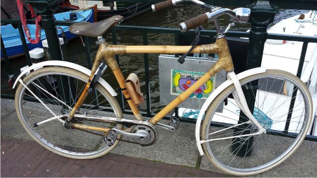 A bike made of bamboo