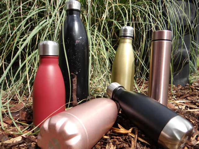My collection of stainless steel water bottles. Photo: Seas & Straws